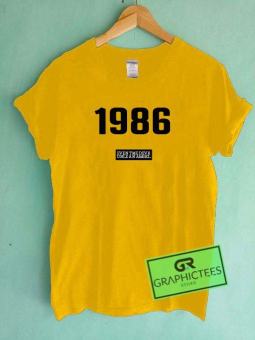 1986 Graphic Tee shirts