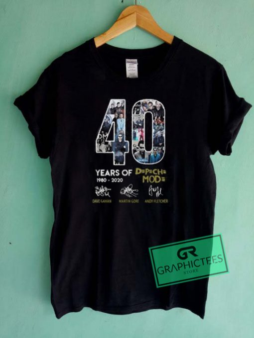 40 Years Of 1980 2020 Depeche Mode Signature Graphic Tee shirts