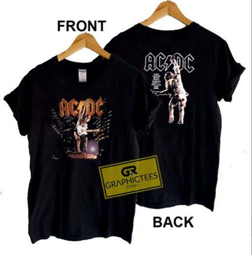 ACDC Stiff Upper Lip Tour Graphic Tee shirts