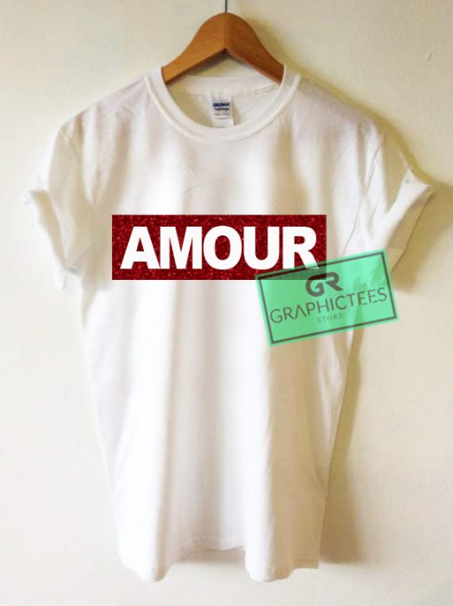 AMOUR Glitter Graphic Tees Shirts