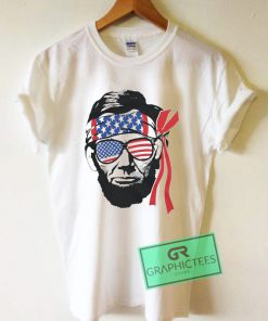 Abraham Lincoln American Flag Graphic Tee shirts