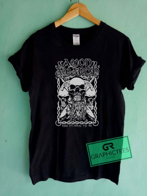 Amon Amarth Bearded skull Graphic Tee Shirts