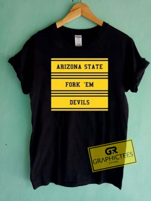 Arizona State Fork Em Devils Graphic Tees Shirts