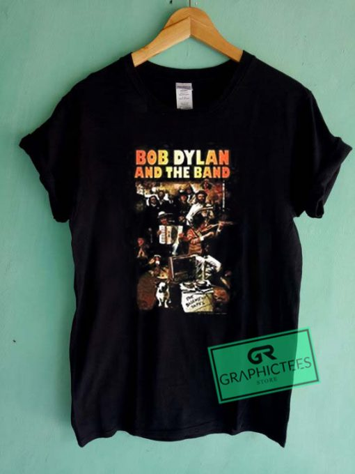 Bob Dylan And The Band Graphic Tee Shirts