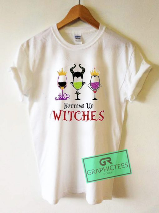 Bottoms Up Witches Graphic Tee Shirts