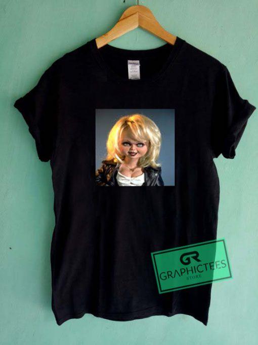 Bride of Chucky Tiffany Close Up Graphic Tee Shirts