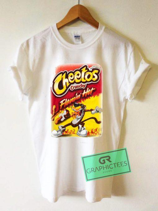 Cheetos Cruchy Flamin Hot Graphic Tee Shirts