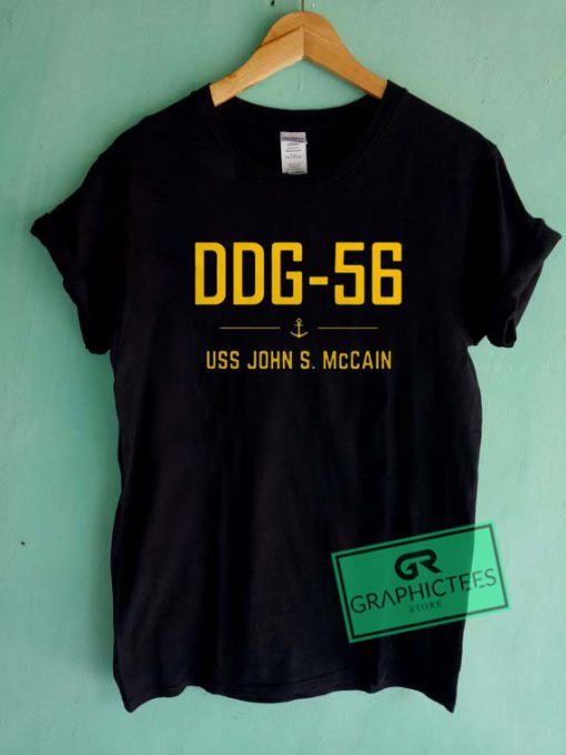 DDG 56 USS John S McCain Graphic Tee Shirts