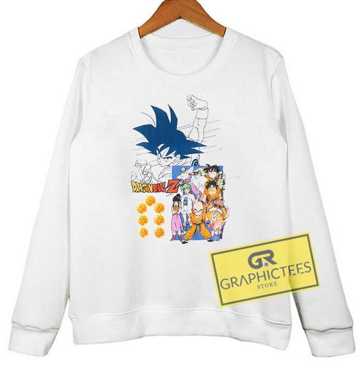 Dragon Ball Z sweatshirt graphic tees