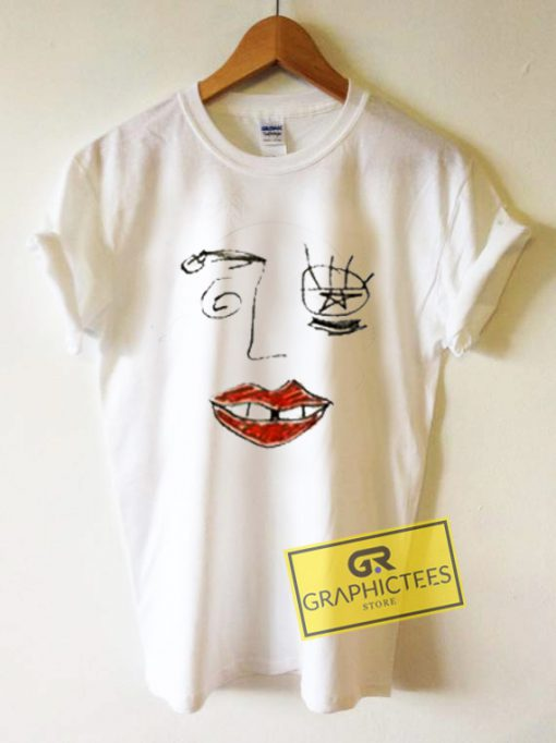 Drawn Face Graphic Tees Shirts