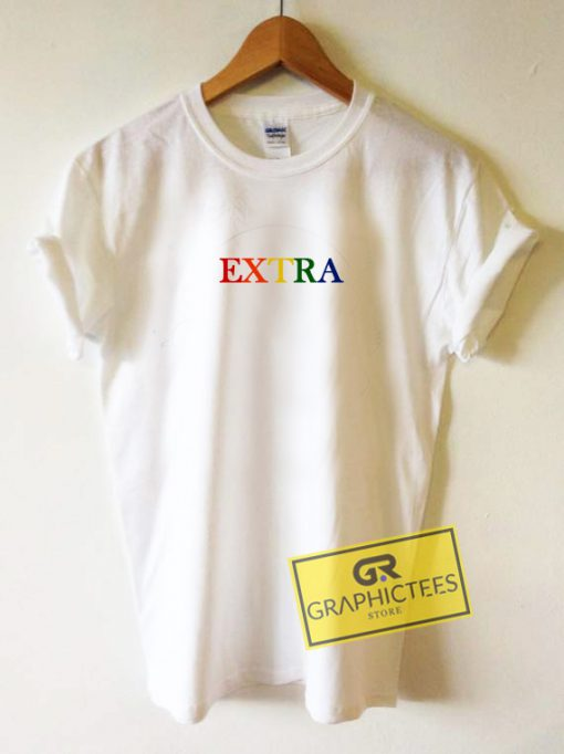 Extra Rainbow Graphic Tees Shirts
