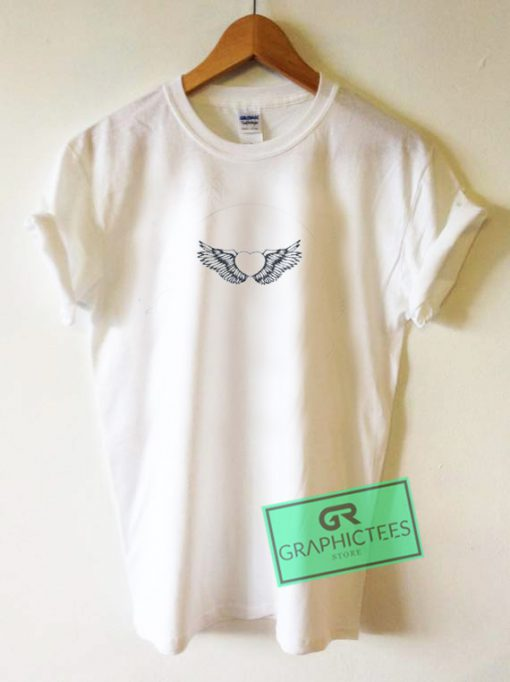 Flying Hearts Graphic Tee Shirts