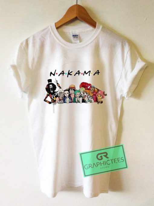 Friends Tv Show One Piece Nakama Graphic Tee Shirts