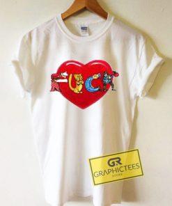 Fuck Love Art Graphic Tees Shirts