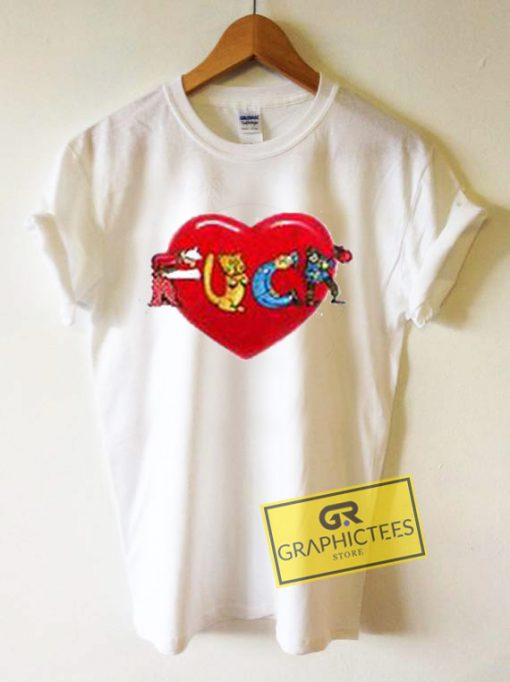 Fuck Love Art Graphic Tees Shirts