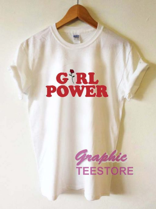 Girl Power Roses Graphic Tee Shirts
