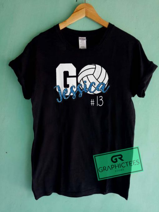 Go Jessica Volleyball Graphic Tee Shirts
