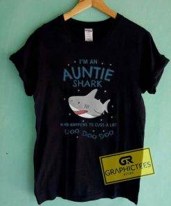 I'm An Auntie Shark Graphic Tees Shirts
