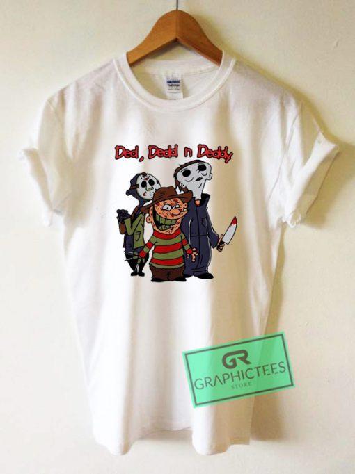 Jason Michael Freddy ded dedd n deddy Halloween Graphic Tee Shirts