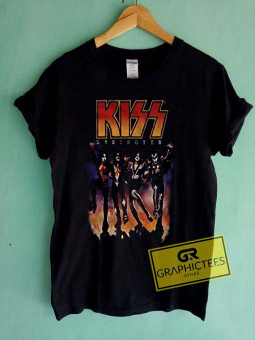Kiss Band Vintage Graphic Tees Shirts