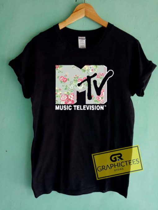 MTV Music Television Floral Graphic Tees Shirts