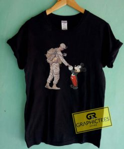 Mickey Mouse Thankful Veteran Graphic Tees Shirts