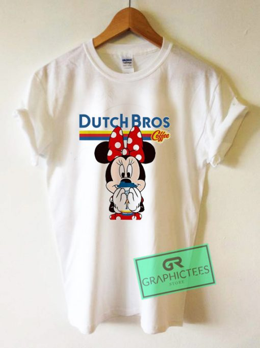 Minnie Mouse drinking Dutch Bros Coffee Graphic Tee Shirts