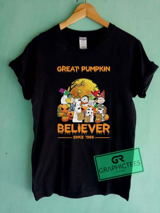Official Great pumpkin believer since 1966 Graphic Tee Shirts