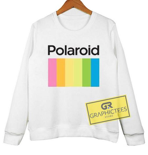 Polaroid sweatshirt graphic tees