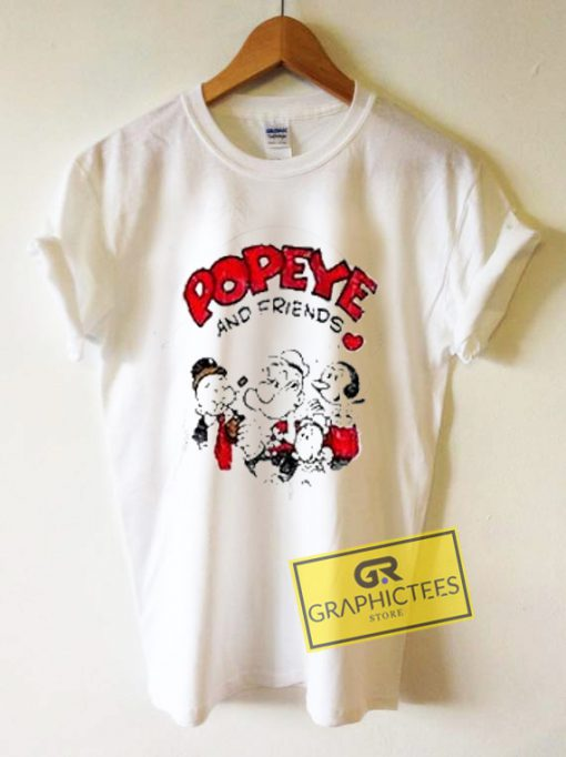 Popeye And Friend Graphic Tees Shirts