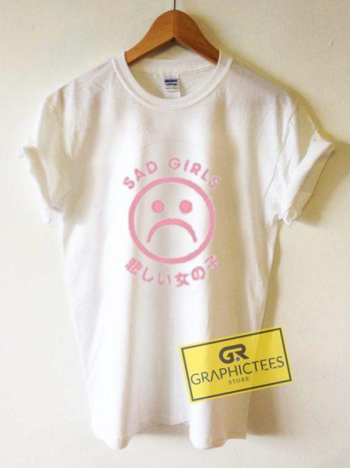 Sad Girl Japanese Graphic Tees Shirts