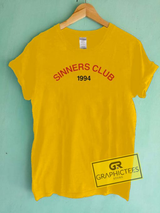 Sinners Club 1994 Graphic Tees Shirts