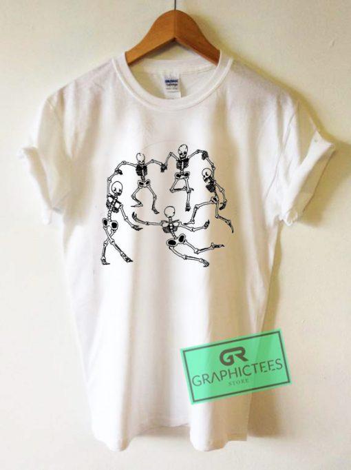 Skeleton Dance Graphic Tee Shirts