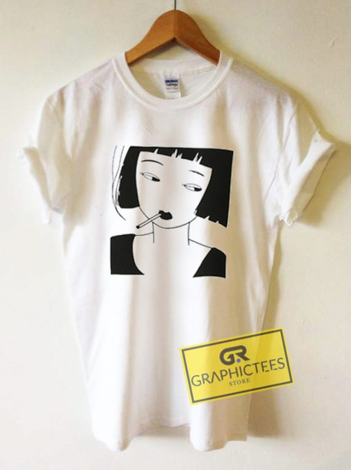 Smoking Girl Kawaii Graphic Tees Shirts