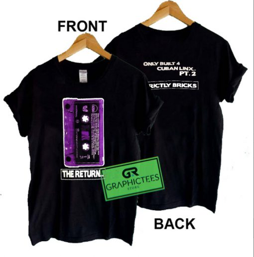 Vintage Wutang Raekwon The Return Only Built For Cuban Links Part 2 Loud Records Graphic Tee Shirts