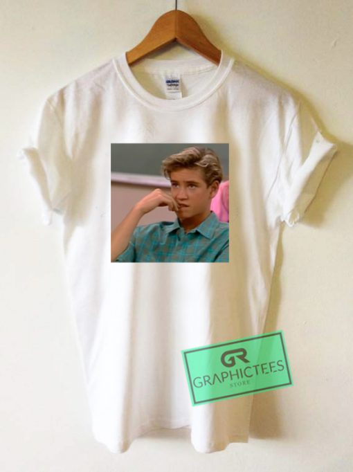 Zack Morris Graphic Tee Shirts