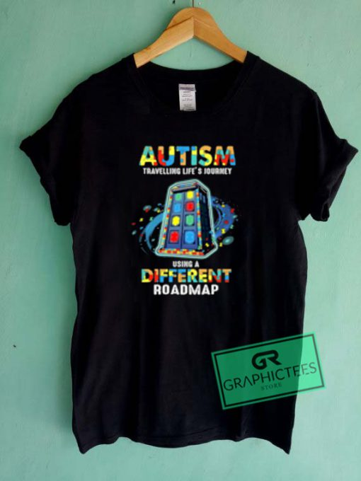 Autism Traveling Life's Journey Graphic Tees Shirts