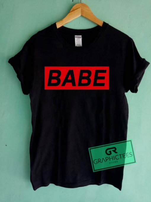 Babe Red Graphic Tees Shirts