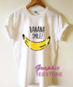 Banana Smile Graphic Tee Shirts