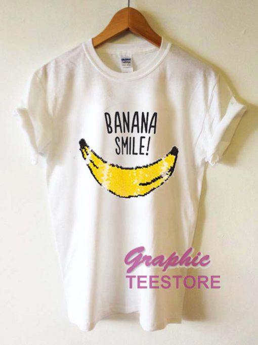 Banana Smile Graphic Tee Shirts