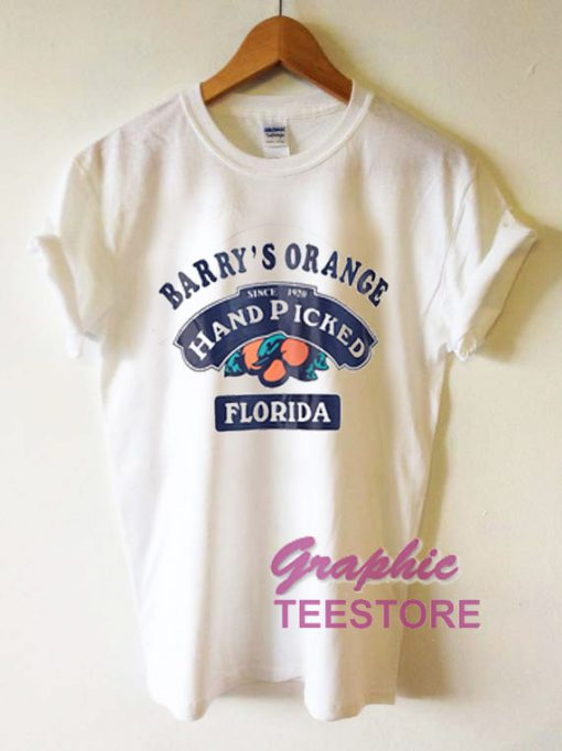 Barry Orange Hand Picked Florida Graphic Tee Shirts
