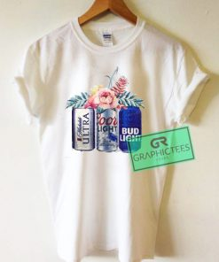 Beer Flower Graphic Tees Shirts