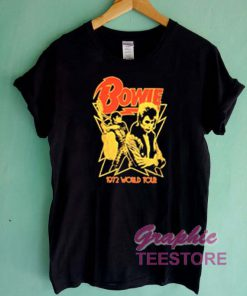 Bowie 1972 World Tour Graphic Tee Shirts