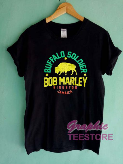 Buffalo Soldier Bob Marley Graphic Tee Shirts