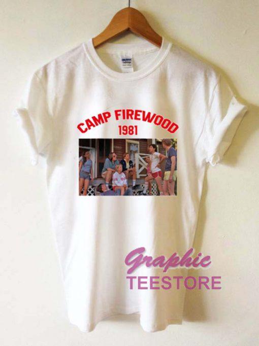 Camp Firewood 1981 Graphic Tee Shirts