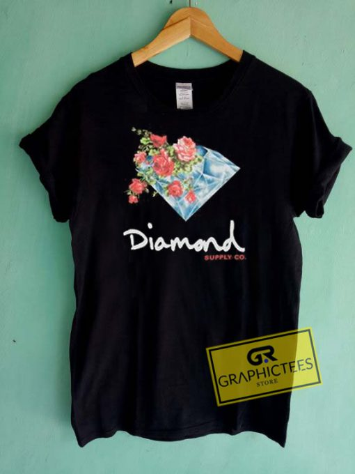 Diamond Supply Painted Floral Graphic Tees Shirts