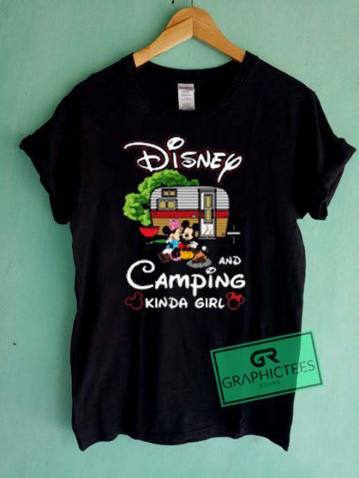 Disney And Camping Kinda Girl Graphic Tees Shirts