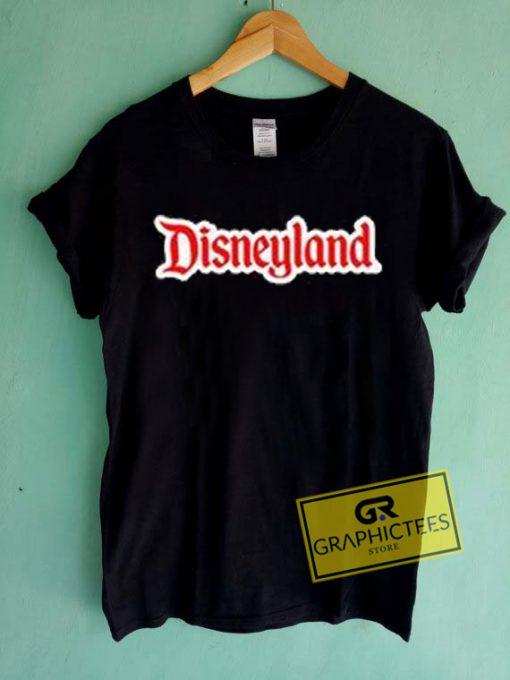 Disneyland Font Graphic Tees Shirts