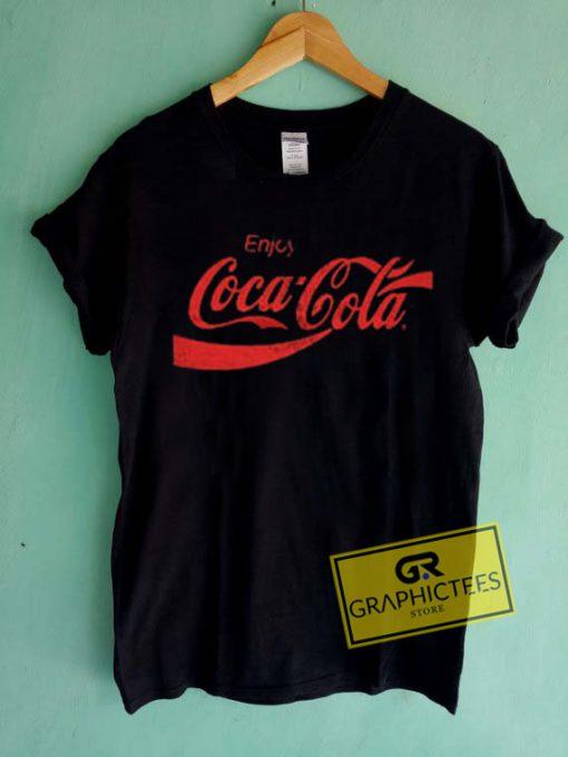 Enjoy Coca cola Graphic Tees Shirts