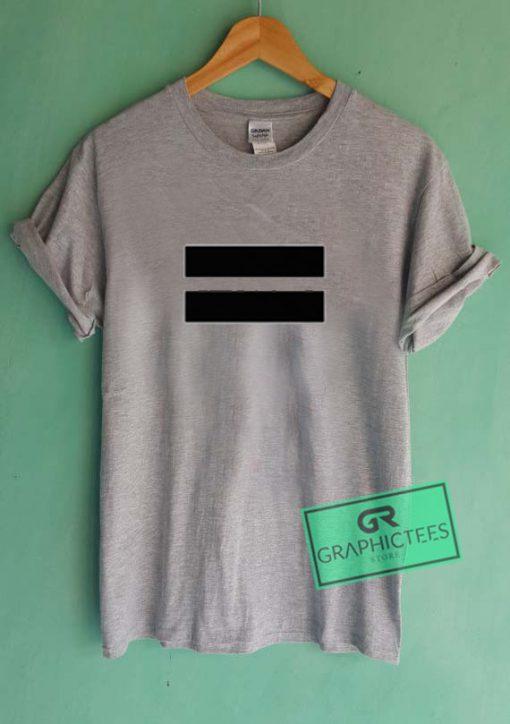 Equal Sign Graphic Tees Shirts
